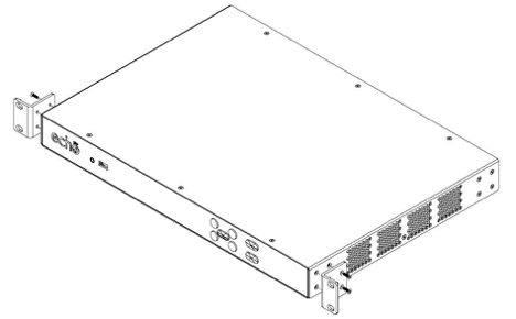 drawing of PRO device showing alignment for installation of mounting brackets as described