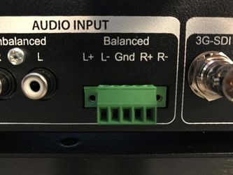 Balanced audio input on the back of the PRO