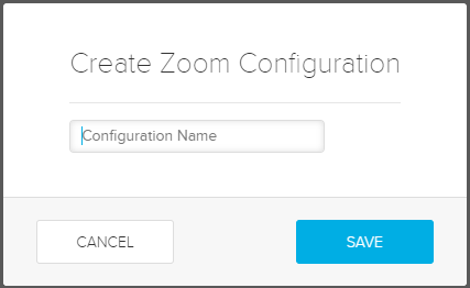 Create Zoom Configuration dialog box with fields for steps as described