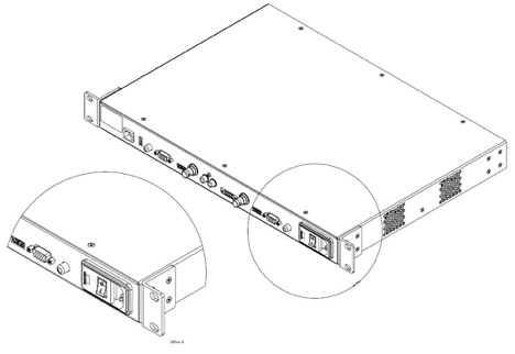 drawing of PRO device with properly installed rear mounting brackets including zoomed in and zoomed out views