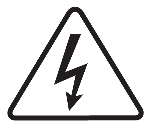 symbol for electric shock warning